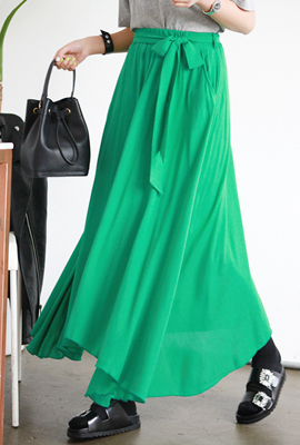Long Skirt Ribbon Flare banding