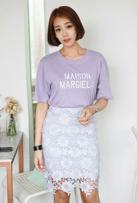 Maison embroidered short sleeve tee