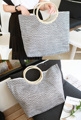 Straw Ring Square Tote (2nd stock)
