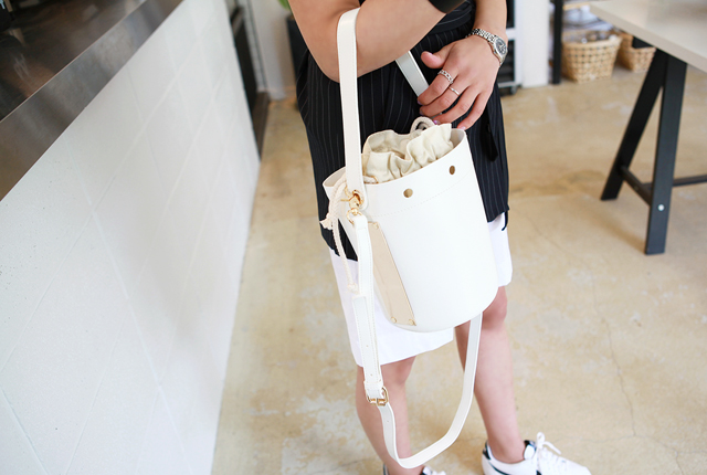 Cylindrical Gilt Tote