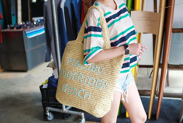 Lettering Straw Bag (HAND MADE) (2nd stock)