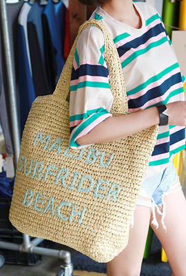 Lettering Straw Bag (HAND MADE)