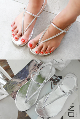 Strapless strap sandals (3rd stock)