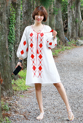 Ethnic Red embroidered dress