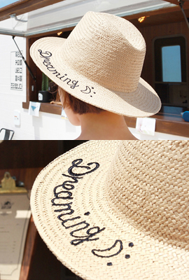 Dreaming Embroidery Panama Hat