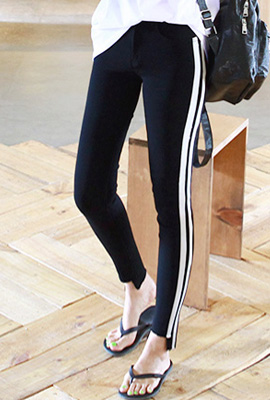 Double line span skinny pants (second stock)