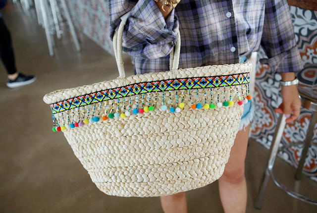 Ethnic Color Foam Tote Bag (HAND MADE)