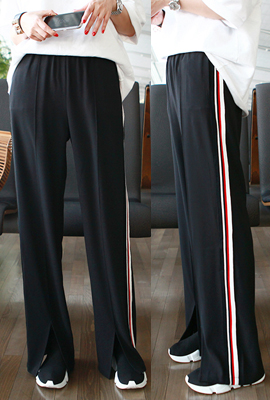 Line color scheme wide pants