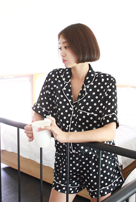 Dot pajamas set