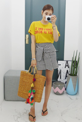 Lettering Heim Check Two-piece set (15th stock)