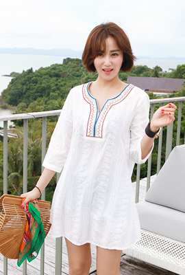 Ethnic Lace Embroidery Dress