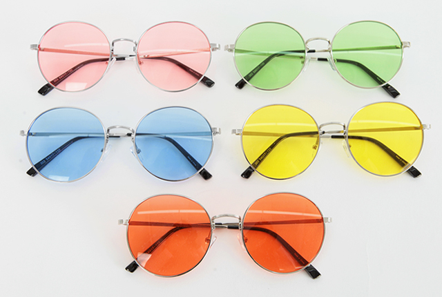 Thin Frame Tinted Sunglasses (3rd stock)