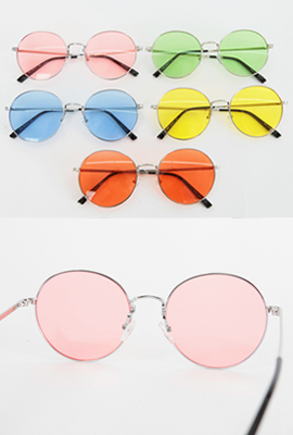 Thin Frame Tinted Sunglasses (2nd stock)