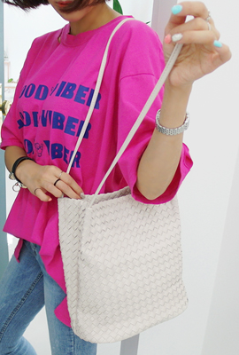Square Weaving Shoulder Bag (2nd stock)