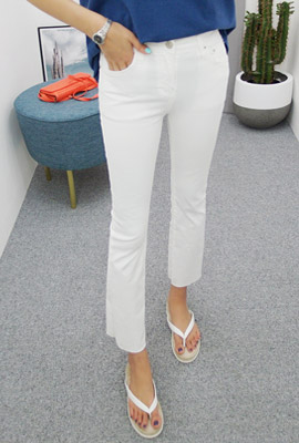 Basic Cutting Slim Plain Pants (2nd stock)