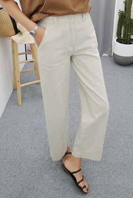 Cotton high-wide pants (second stock)