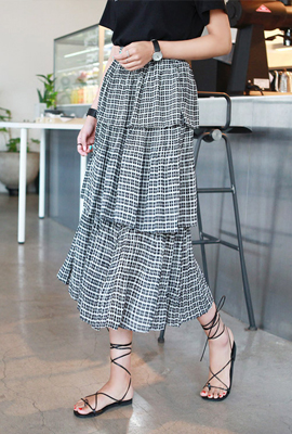 Tartan Check Kankan Long Skirt (2nd stock)