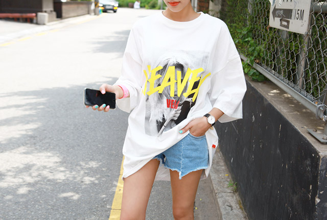 Heaven Printing Long Sleeve T-shirt (stock 23)