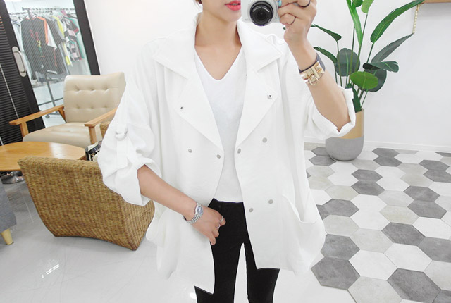 Out Pocket Double Button Jacket