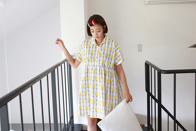 Pineapple Pajama Dress