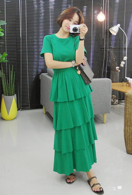 Kangkang Banding Long Dress (2nd stock)