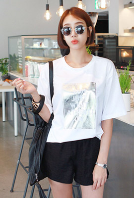 Attention Square short-sleeved tee (second stock)