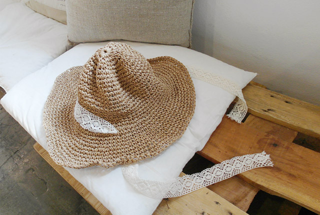 Lace strap Floppy Hat (4th stock)
