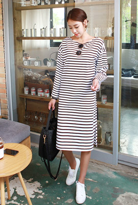 Boat Neck Tigarate One Piece
