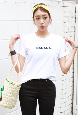 Banana embroidered short sleeves (second stock)