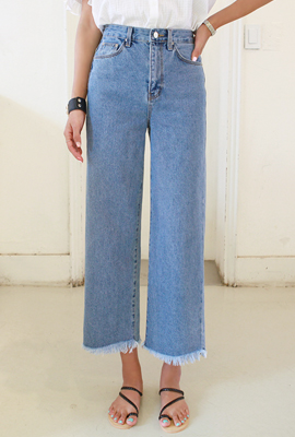 Natural Surgical Wide Denim Pants (4th stock)