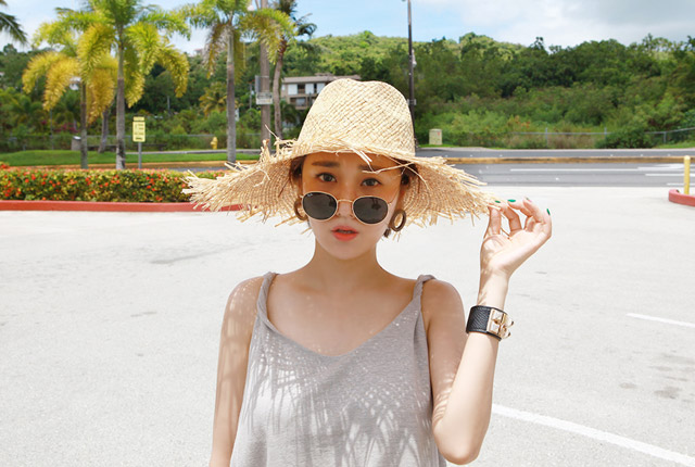 Straw Surgery Floppy Hat