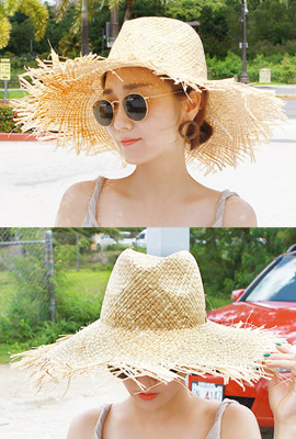 Straw surgical floppy hat (second stock)