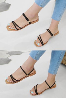 String two-way sandals