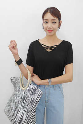 Double Strap Span Short Sleeve Tee