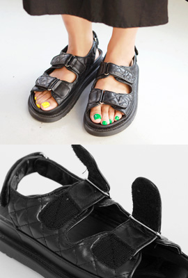 Leather-style strap sandals