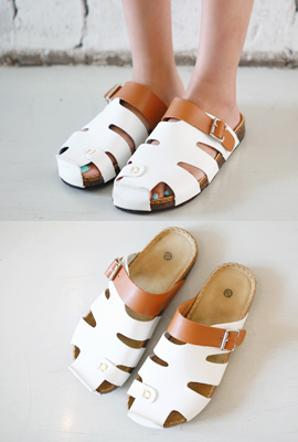 Punching leather coloring slippers