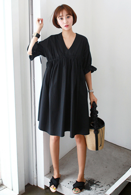 Banding Strap Flare Dress (2nd stock)