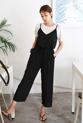 String Wide Jump Suit (2nd stock)
