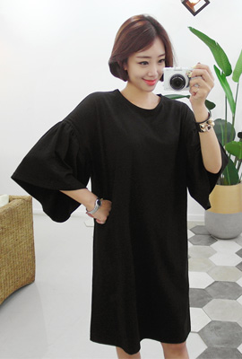 Wide retail shirring dress (second stock)