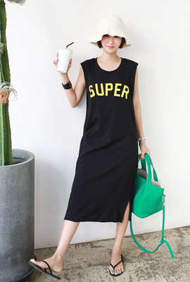 Super double navy long dress (second stock)
