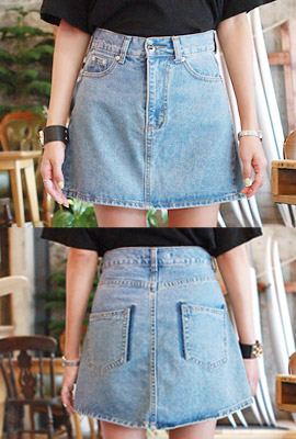 Daily Washing denim skirt