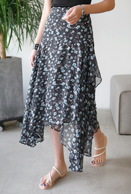 Double flare flower skirt