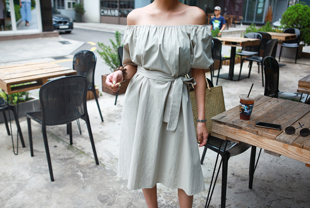 Off-Shoulder Strap Dress