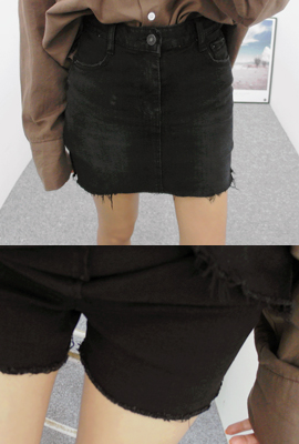 Cutting denim skirt pants (second stock)