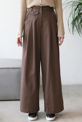Double pin pants Wide pants
