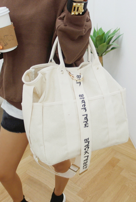Lettering strap shoulder bag (2nd stock)