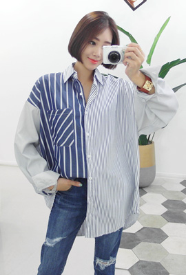 Unfaltered striped shirt (11th stock)