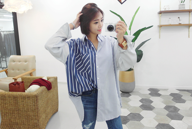 Unfaltered striped shirt (18th stock)