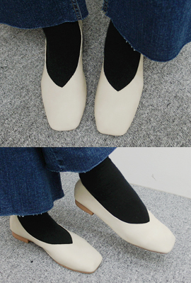 Basic Leather Flat Shoes