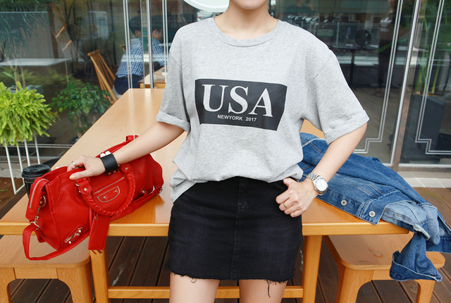 USA Square Short Sleeve Tee